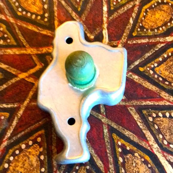 Santa vintage cookie cutter, wooden handle